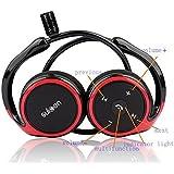 AODE® Black/Red-Frame Sports Bluetooth Wireless Stereo Headset Headphone 130158