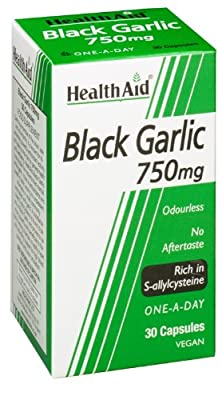 HealthAid Black Garlic 30 Vegicaps 750 mg by Healthaid