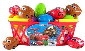 Pack of 18 Walt Disney Movie Cars Candy Filled Plastic Eggs for Easter Basket