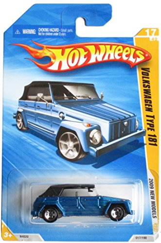 HOT WHEELS 2009 NEW MODELS 17 OF 42 017/190 BLUE W/BLACK TOP VOLKSWAGEN TYPE 181 - 1