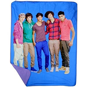 One Direction Blue Portrait Throw  by Jay Franco and Sons