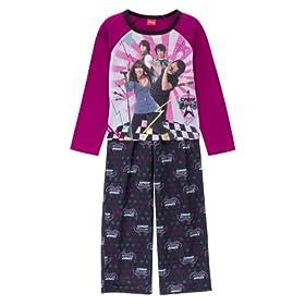 Girls' Camp Rock 2-pc. Pajama Set - Black
