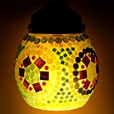 EarthenMetal Handcrafted Egg Shaped Mosaic Glass Hanging Light