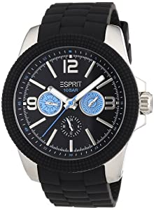 Esprit Herren-Armbanduhr XL 304 STAINLESS STEEL Analog Quarz Plastik A.ES105831001