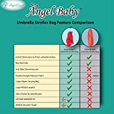 Angel Baby Travel Gate Check Bag for Umbrella Strollers with Drawstring Closure and Carrying Handle, Red