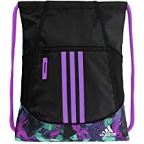 adidas Alliance II Sackpack, One Size, Black/Sherbet Shock Pink/Shock Purple
