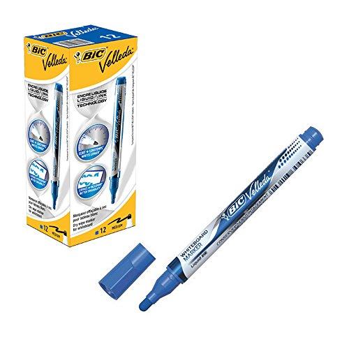 bic-velleda-liquid-ink-pocket-marqueur-effacable-a-sec-boite-de-12-pointe-medium-bleu