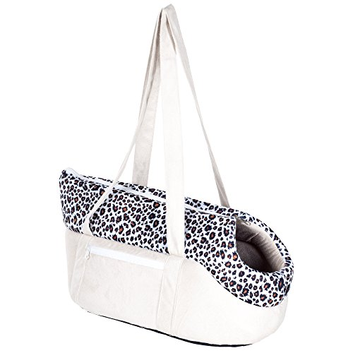 PAW Cozy Cat Travel Soft Sided Pet Carrier, Tan/Leopard