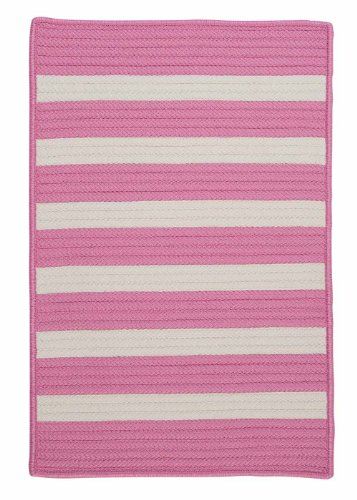 Indoor/Outdoor American Made Textured Rug 2-Feet by 3-Feet Bold Pink Carpet
