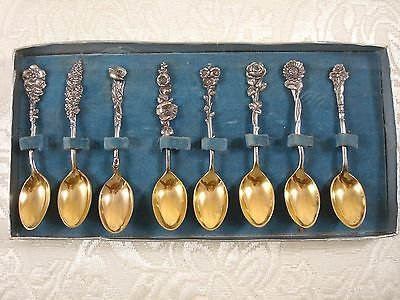 Harlequin By Reed & Barton Sterling Silver Demitasse Set Of 8 Gw In Org Box 4""