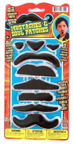 Good Things Stick-On Mustaches & Soul Patches Set