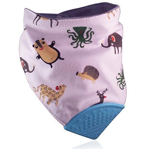 Animals-Soft-Cotton-Baby-Teething-Bandana-Teething-Bib-Chew-Bib-Drool-Bib