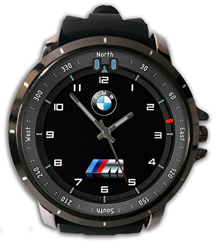 New Custom Printed Bmw M Power Logo Watch Alloy Stainless-Steel With Rubber Band