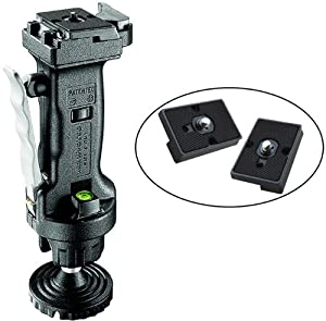 Manfrotto 222 Joystick Head with Two Replacement Quick Release Plates for the RC2 Rapid Connect Adapter