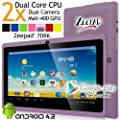 Zeepad® 7DRK Dual Core 4.2 Purple Android Tablet 7 Inch, Multi-Touch, Dual Camera, Wi-Fi (May 2014 PUR) from Worry Free Gadgets