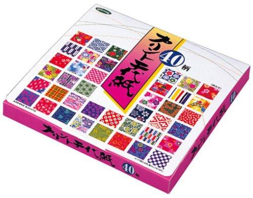 23-1986 impreso chiyogami 40 patrones de origami ショウワグリム