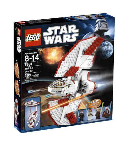 racing to a distant clone wars battlefield in their t 6 shuttle the jedi have been ambushed by bounty hunters but with flick missiles a rotating wing for - Lego Star Wars Vaisseau Clone