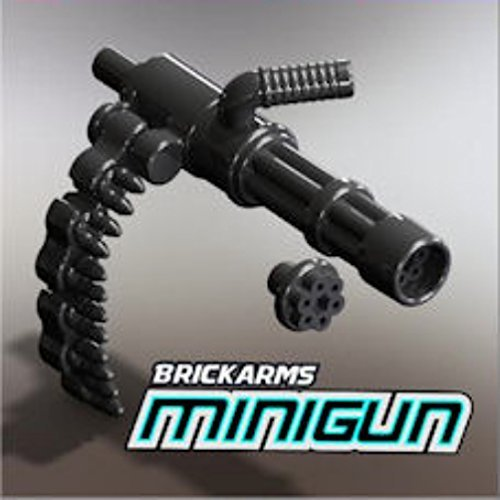 BrickArms-25-Scale-LOOSE-Weapon-Gunmetal-Minigun-with-Brass-Ammo-Chain-by-Subarm