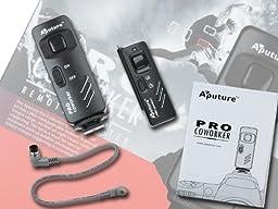 Aputure Pro Coworker Wireless Remote, RF Radio Shutter Release for Fujifilm S3 Pro, S5 Pro, IS Pro, fully Compatible with Nikon MC-30, Fuji Film