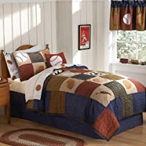 PEM America QS6090TW-2300 Classic Sports Twin Quilt with Pillow Sham