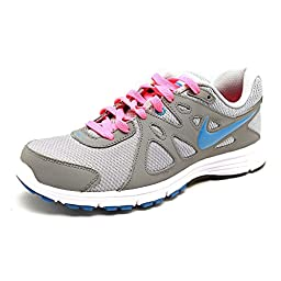 Nike Womens Revolution 2 Wlf Grey/N Trq/Cl Gry/Dgtl Pink Running Shoe 9 Wome...