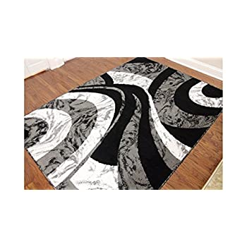 Eldorado Modern Design Printed Swirls Area Rug, Luxurious, Elegant, and Fashionable Area Rug 53