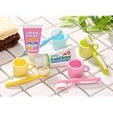 Iwako Japanese Erasers: Dental / Toothbrush Set- 6pcs