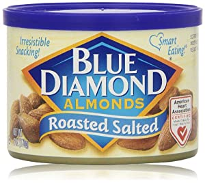 Blue Diamond Almonds, Roasted Salted, 6 Oz