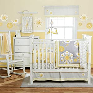 Sweet Sunshine 4 Piece Baby Crib Bedding Set with Bumper by MiGi