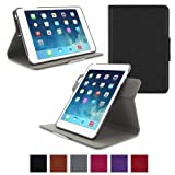 Apple iPad Mini 3 (2014) Case - roocase Orb System Folio 360 Dual View Leather Case Smart Cover with Sleep / Wake Feature for Apple iPad Mini 1 2 3 (2014) Black - Patented Complete Lifestyle Solution