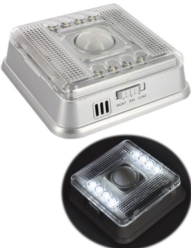 Bestek 8 Led Auto Infrared Motion Sensor Light Dectector Battery Powered For Entrance,Corridor,Basement,Garage,Cellar,Cabinets,Cupboards,Bookcases,Ect.Btsl0405