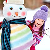 COLOR MY WORLDS SAND & SNOW COLORING KIT SNOW TOYS OUTDOOR WINTER TOYS BUILD YOUR OWN SNOWMAN COLOR IT BLUE RED GREEN COLOR SNOW SLED PATH RAINBOW SNOWBALLS SANDCASTLES 14 PIECE KIT SAFE ECO-FRIENDLY