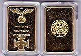 Deutsche reichsbank/croix or lingot plaques 1 oz 999 verg. neuf...
