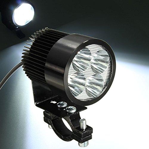 AUDEW 4 LED DRL Phare Anti-brouillard Spotlight Lampe 12W 1000LM Pour Moto 4x4 Van Camion Noir