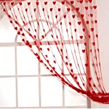 Handloomwala Beautiful Red Summer Heart Net Curtain