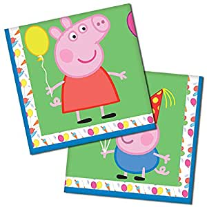 Gemma International Peppa Pig Party Napkins|16 pcs