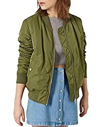 Lurap Women's Green Autumn Winter Jacket - Regular & Plus Size