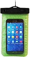 Waterproof Smartphone Carrying Case Protects Smartphones While your Near Swimming Pools, Beaches, and at SPAs - Includes Neck Strap - Glow in the Dark Green