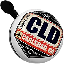 Bicycle Bell Airportcode CLD Carlsbad CA by NEONBLOND