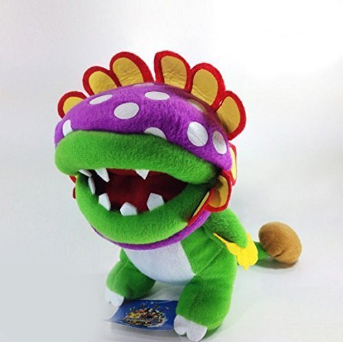 Super Mario Bros Brother Petey Piranha 8 Anime Animal Stuffed Plush Plushies Doll Toys super mario bros plush green shell backpack bag purse cosplay super funny and cool rare