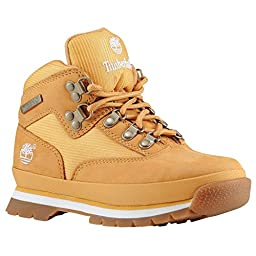 Timberland Euro Hiker Leather and Fabric Boot (Toddler/Little Kid/Big Kid),Wheat,5.5 M US Big Kid