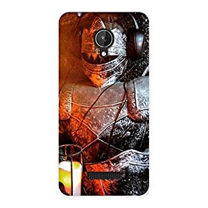 Enticing Warrior Knight Print Back Case Cover for Micromax Canvas Spark Q380