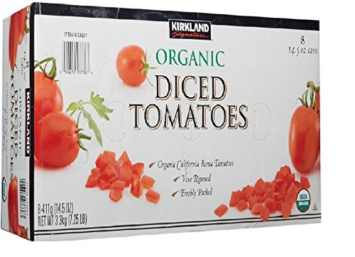 Kirkland Signature Organic Diced Tomatoes, 7.25 Pound (Tomato Diced Can compare prices)