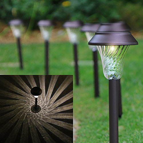 50 off enchanted spaces solar path light set of 6 bronze. Black Bedroom Furniture Sets. Home Design Ideas