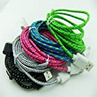 New Design 5pcs Ruggedized Braided Fabric Colorful 10ft 3m 3meters Extra Long 30pin USB 2.0 Charger Cable Cords for Iphone 4 4s Ipod Touch 4 Nano 6 Black White Hotpink Blue Green