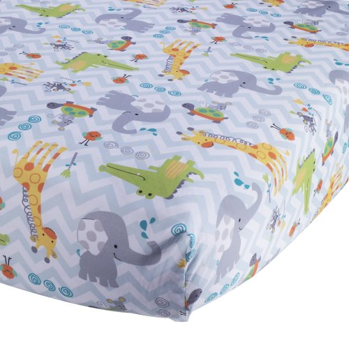 Lambs & Ivy Crib Fitted Sheet, Yoo-Hoo