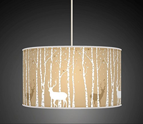 stag-deer-trees-handmade-lampshade-printed-fabric-pendant-light-beige-colour-860