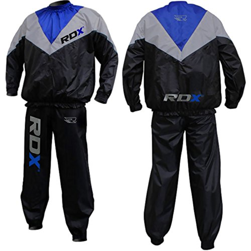 Authentic RDX Fight ME Non Rip Sauna Sweat Track Suit Weight loss Slimming Fitness Boxing Gym Belt Mens (M)