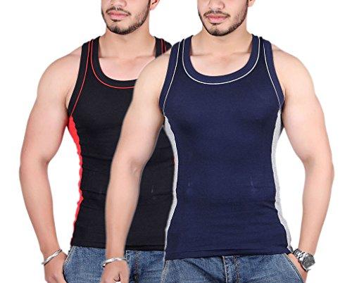 White-Moon-999-Gym-Vest-Pack-of-2-BlackBlue