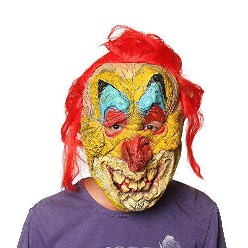 Evil Horror Clown Mime Latex Mask Halloween Costume
